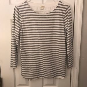 J.Crew woven back striped top size small
